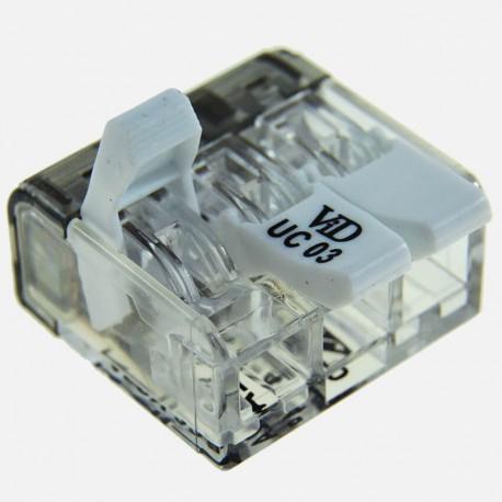 Connecteur à levier 3 fils de 0,5 à 4 mm² P07313SIB