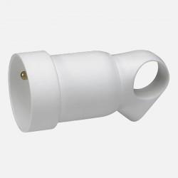 Prolongateur plastique 2P+T 16A à anneau - blanc - Legrand