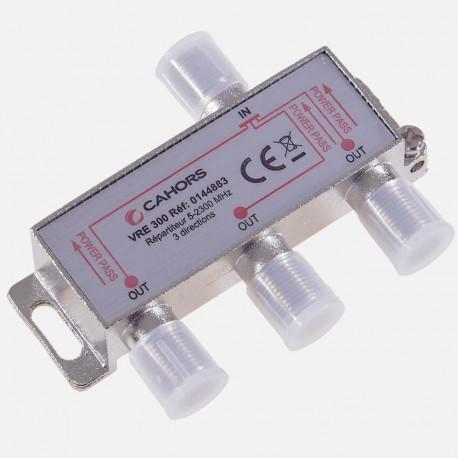 Répartiteur Télévision 3 directions 5 -2300 MHz Cahors