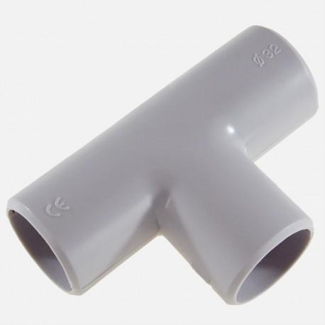 Té gris pour tube IRL diamètre 32 mm Eurohm