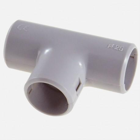 Té gris pour tube IRL diamètre 25 mm Eurohm