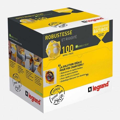 80031 boîte 1 poste BBC Ø67 mm P50 mm Legrand