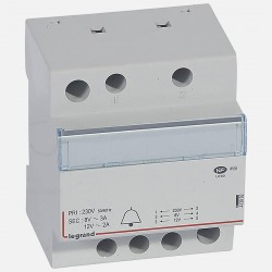 Transformateur pour sonnerie 230V vers 12V ou 8V - 24VA