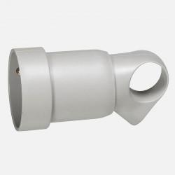 Prolongateur plastique 2P+T 16A à anneau - gris - Legrand