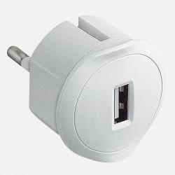 Chargeur USB 5V 1,5A maximum avec fiche 2P 10A
