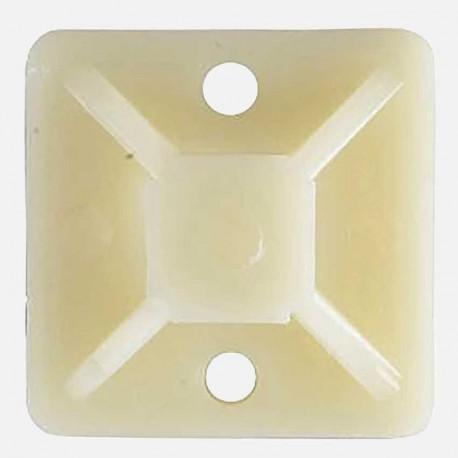 Embases adhésives 25x25 mm pour collier jusqu'à 4,8 mm de large