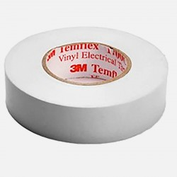 80464 Ruban PVC isolant 15 mm x 10 ml blanc 3M