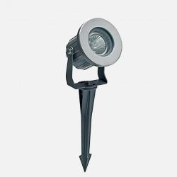 Projecteur extérieur sur piquet - gris GU10 Europole 391100