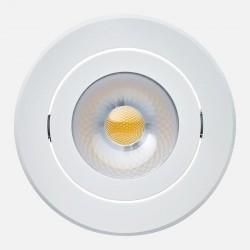 Spot encastré orientable blanc Philips 8W 840