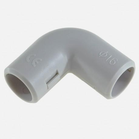 Coude gris pour tube IRL diamètre 16 mm Eurohm