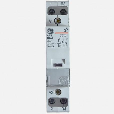 Contacteur modulaire 666126 20A bipolaire General Electric
