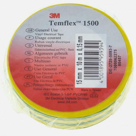Scotch électricien vert jaune 15 mm x 10 ml 3M 80457