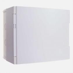 Coffret 1 rangée 18 modules avec porte pleine