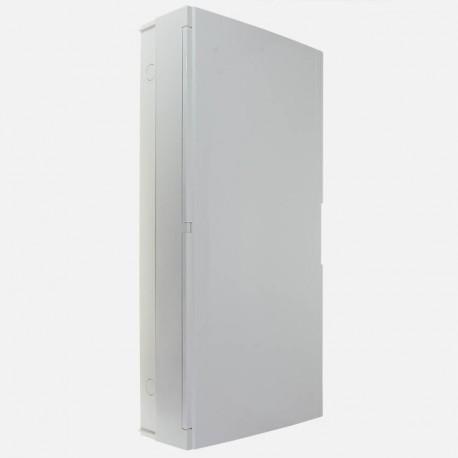 Coffret 4 rangées 18 modules avec porte pleine