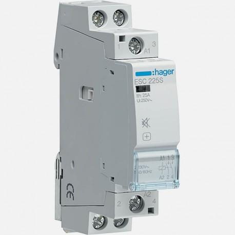 ESC225S contacteur silencieux 25A 2 pôles 230V Hager
