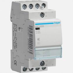 ESC425S contacteur silencieux 25A 4 pôles 230V Hager