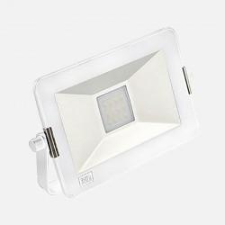 Projecteur extérieur blanc Yako slim 3000K 10W 230 volts Europole