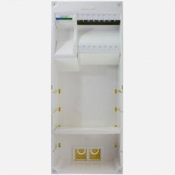 Coffret de communication grade 3 TV - 8 RJ45