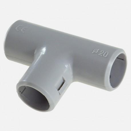 Té gris pour tube IRL diamètre 16 mm Eurohm
