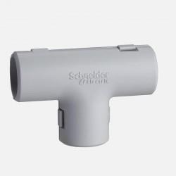Té gris pour tube IRL diamètre 20 mm Schneider