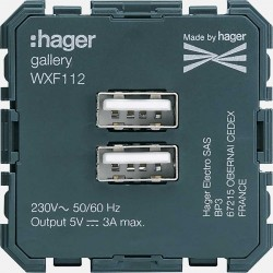 Prise USB Gallery WXF112 Hager