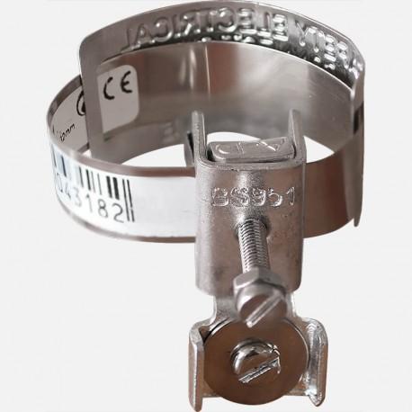 Collier de mise à la terre 2.5-6 mm² 120 mm 12-32 mm
