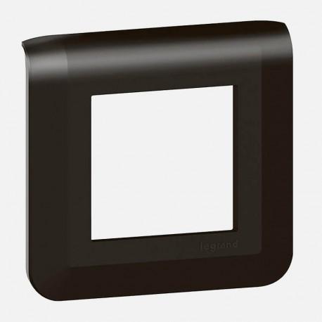Mosaic noir mat plaque 1 poste legrand