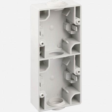 Boîtier double vertical gris