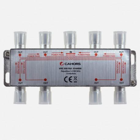 Répartiteur Télévision 8 directions 5 -2300 MHz Cahors.