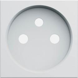 Enjoliveur prise de courant 2 pôles + terre gallery pure WXD100B