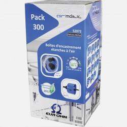 52072 Pack de 300 Boîtes 1 poste bbc Ø67 mm P40mm + scie cloche