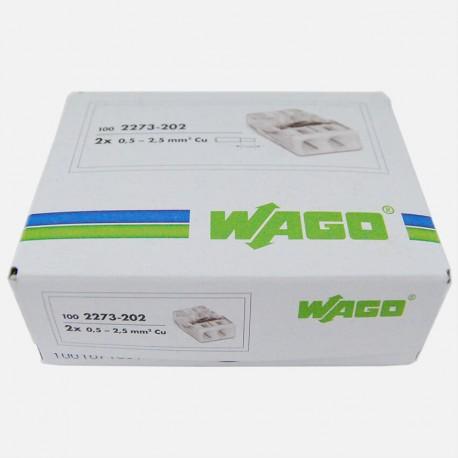 Borne wago série 2273, 2 fils de 0,5 à 2,5 mm² colisage de 100 pièces