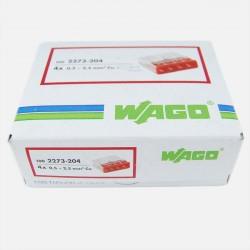 Borne wago 4 fils série 2273, 4x 0,5 à 2,5 mm², colisage de 100 pièces