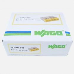Borne wago série 2273, 2 fils de 0,5 à 2,5 mm², colisage de 100 pièces