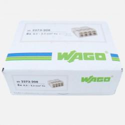 Borne wago 8 fils série 2273, 8x 0,5 à 2,5 mm² colisage de 50 pièces