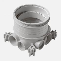 Boîte d'encastrement simple pour prise de sol pour béton hauteurs de chape 50mm à 80mm