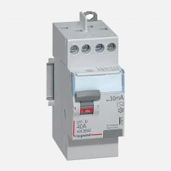 411611 Interrupteur différentiel 2P 230V 40A type AC 30mA