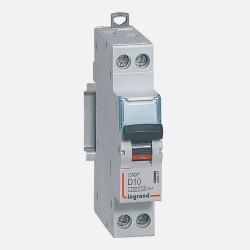 Disjoncteur courbe D 10A ph + neutre à vis Legrand 406801