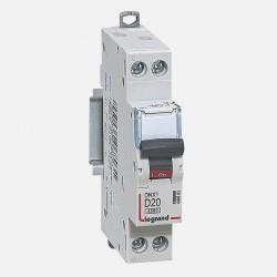 Disjoncteur courbe D 20A ph + neutre à vis Legrand 406803