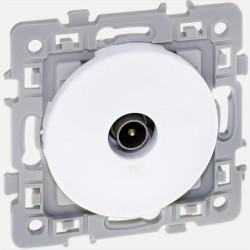 Prise télévision blanche Square 60264