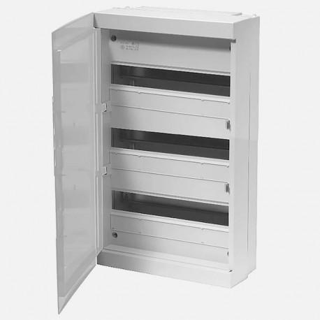Coffret 3 rangées 18 modules avec porte pleine