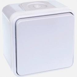 Poussoir étanche IP55 blanc Oxxo