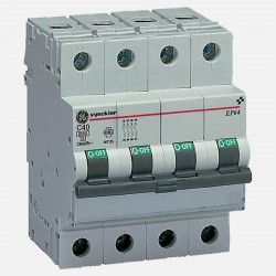 Disjoncteur 4 pôles C40 6KA 676116