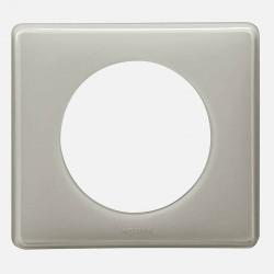066601 Plaque Céliane Laqué 1 poste - finition Gris perle