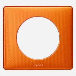068761 Plaque Céliane Métal - finition Orange Snake