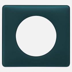 066771 Plaque Céliane Poudré 1 poste - finition Bleu vert