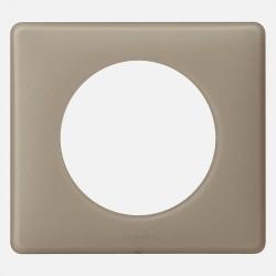 066721 Plaque Céliane Poudré 1 poste - finition grès