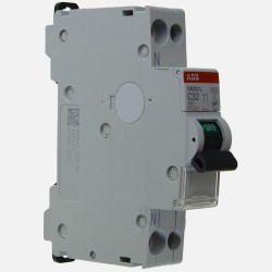 Disjoncteur Ph+N raccordement à Vis 32 A - 4,5Ka ABB