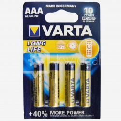 Blister de 4 piles alcaline LR03 Varta