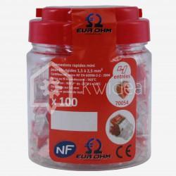 Connecteur rapide Fast Lock Eur'ohm 4 fils de 1.5 à 2.5 mm²